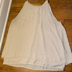 Violet + Claire cream sleeveless blouse size L